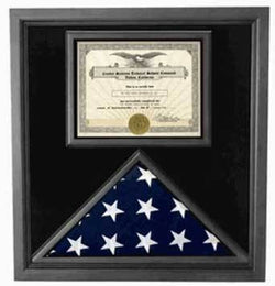 Flag Connections Retirement Flag Display Case - Military Retirement Gift
