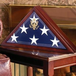 Memorial Flag Case - Burial Flag Boxes comes complete with wall mountable hardware