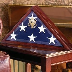 Burial Display Flag, Large Coffin Flag Display Case