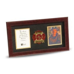 4 by 6 Double Picture Frame for Firefighter Medallion