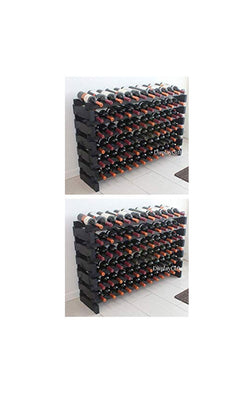 Wine Rack Stackable Storage Stand Display Shelves (144 Slots)