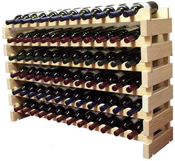 Wine Rack Stackable Storage Stand Display Shelves