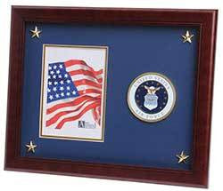 Aim High Air Force Medallion 8-Inch by 10-Inch Certificate and Medal Frame