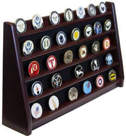 5 Rows Shelf Challenge Coin Holder Display Casino Chips Holder
