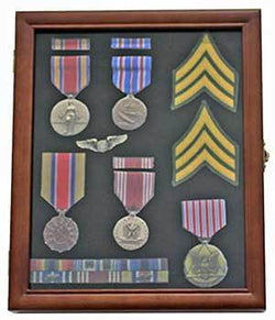 Medal Display Case Award Shadow Box, with glass door
