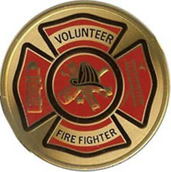 Flags Connections VOLUNTEER FIRE FIGHTER Color Medallion