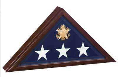 Flag Connections Open Front Flag Display case, For Casket Flag, Cherry Wood