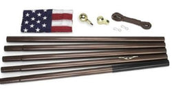 Flag Connections Residential Flagpole Kit With Flag - Bronze