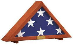 Flag Display Case Memorial with Personalized Brass Plaque