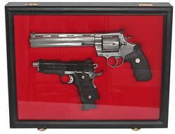 Pistol Airsoft Gun/Handgun Display case Shadow Box, Lockable