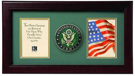 Flags Connections United States Army Dual Picture Frame