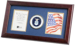 Flags Connections U.S. Air Force Medallion 4-Inch by 6-Inch Double Picture Frame