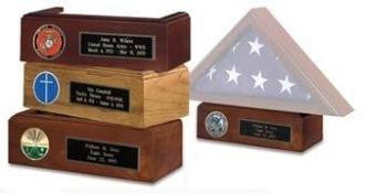 American made Pedestal for Display Flag Shadow box.