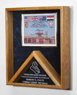 Flag case - Shadow Box. - The Military Gift Store