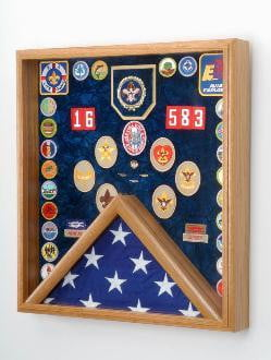 Scout flag display, Scout display case, Scout gift.