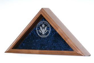 Triangle Flag Case, Triangle Flag Display Case.