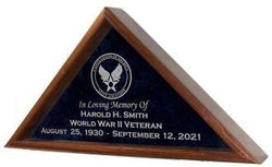 Flag and Memorabilia Display Case double-strength glass front. - The Military Gift Store