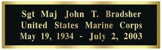Engraved Brass Plates - The Military Gift Store