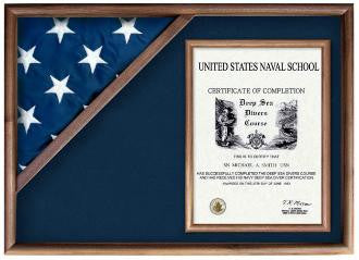 Flag and Military Insignia Display Case