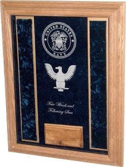 Military Shadowbox With Personalized Glass.