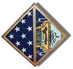 2 Flags display case - Wall Mounted box. - The Military Gift Store