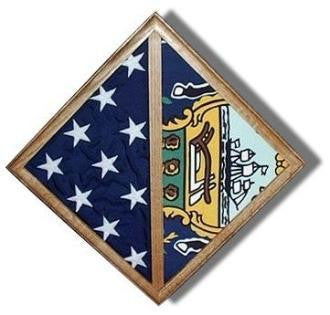 Flag - Wall Mounted box - Fit Burial flag Case. - The Military Gift Store