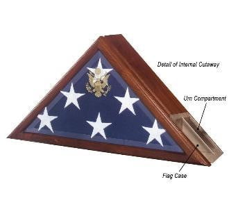 Urn and Flag Case, Funeral Flag Case.