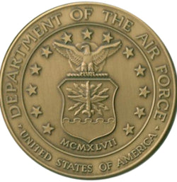 Air Force Service Medallion, Brass Air Force Medallion.