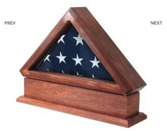 Flag Display Case AND Pedestal for American Flag