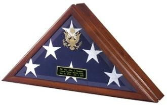 Patriot Flag Case, Casket flag Case Wall Mountable With Hardware Included