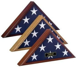 Spartacraft Veteran Flag Display Case,Cherry.