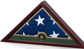 Military Frame, Military Flag Display Case hold a flag up to 5' x 9.6'