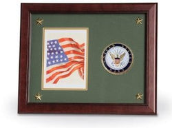 Navy Medallion Frame, Navy Photo and Medallion Frame