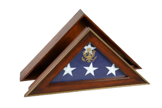Five Star General Flag Case, Burial Flag Display Case.