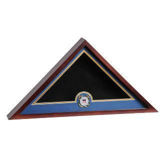 Coast Guard Flag Display Cases, USCG Flag Case with a Medallion. - The Military Gift Store