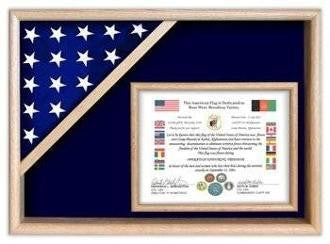 Flag Display Cases - Certificate Flag Shadow Box.