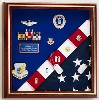 Flag Display Case - American Made for flag and medals.