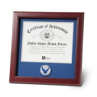 Air Force Medallion Certificate Frame 8 by 10