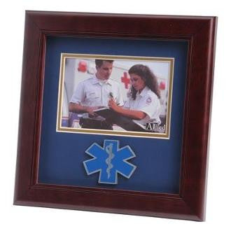 EMS Medallion Landscape Picture Frame is designed to hold a 4x6