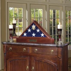 Burial Display case for flag