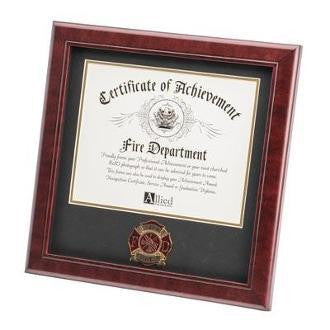 Firefighter Medallion Certificate Frame.