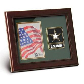 Army Medallion Portrait Picture Frame, Army Picture Frame