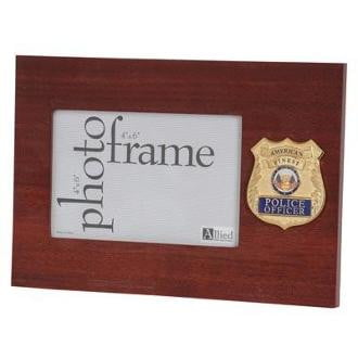 Police Department Medallion Double Picture Frame
