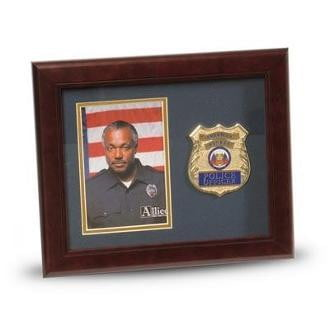 Police Department Medallion Portrait Picture Frame