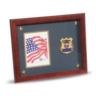 Police Department Medallion Picture Frame with Stars