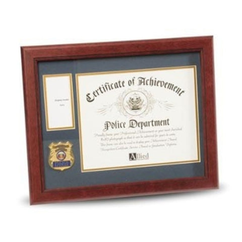 Police Department Medallion Certificate and Medal Frame.