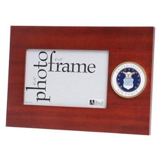 U.S. Air Force Medallion Desktop Picture Frame 6.5-Inches by 9.5-Inches