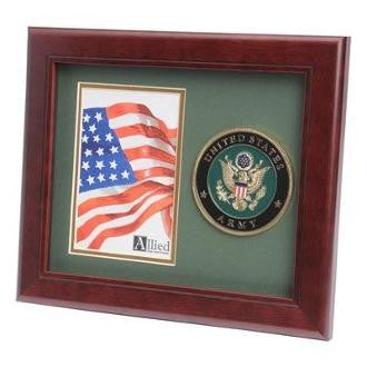Go Army Medallion Portrait Picture Frame Double Layer Army Green Matting with