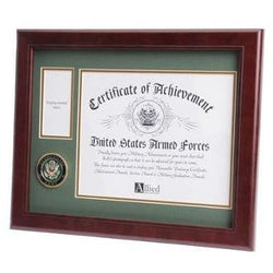 U.S. Army Medallion Certificate and Medal Frame Double Layer Army Green