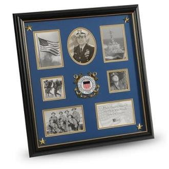 U.S. Coast Guard Medallion 7 Picture Collage Frame